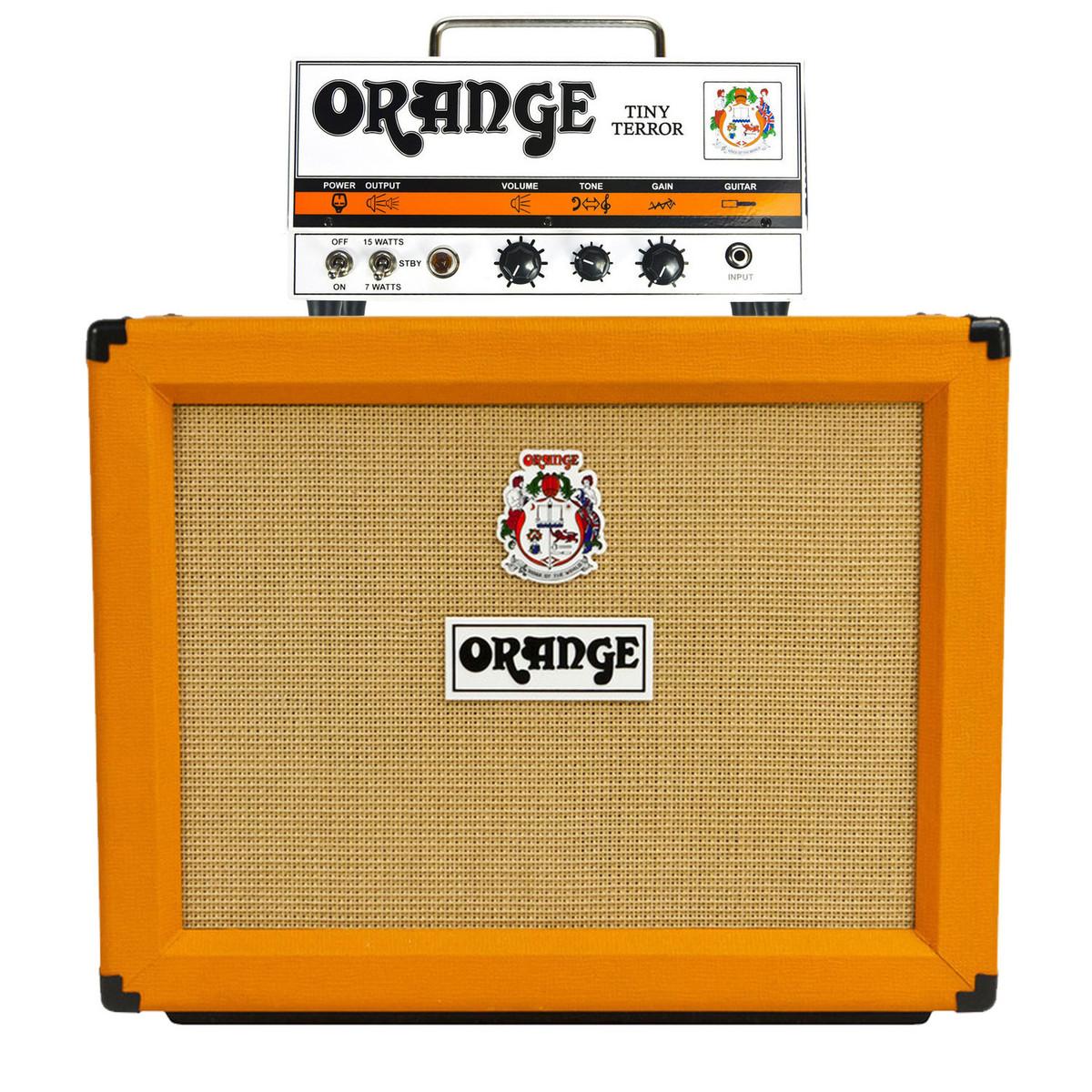 orange tiny terror ampli de guitarra con funda y cables en. Black Bedroom Furniture Sets. Home Design Ideas