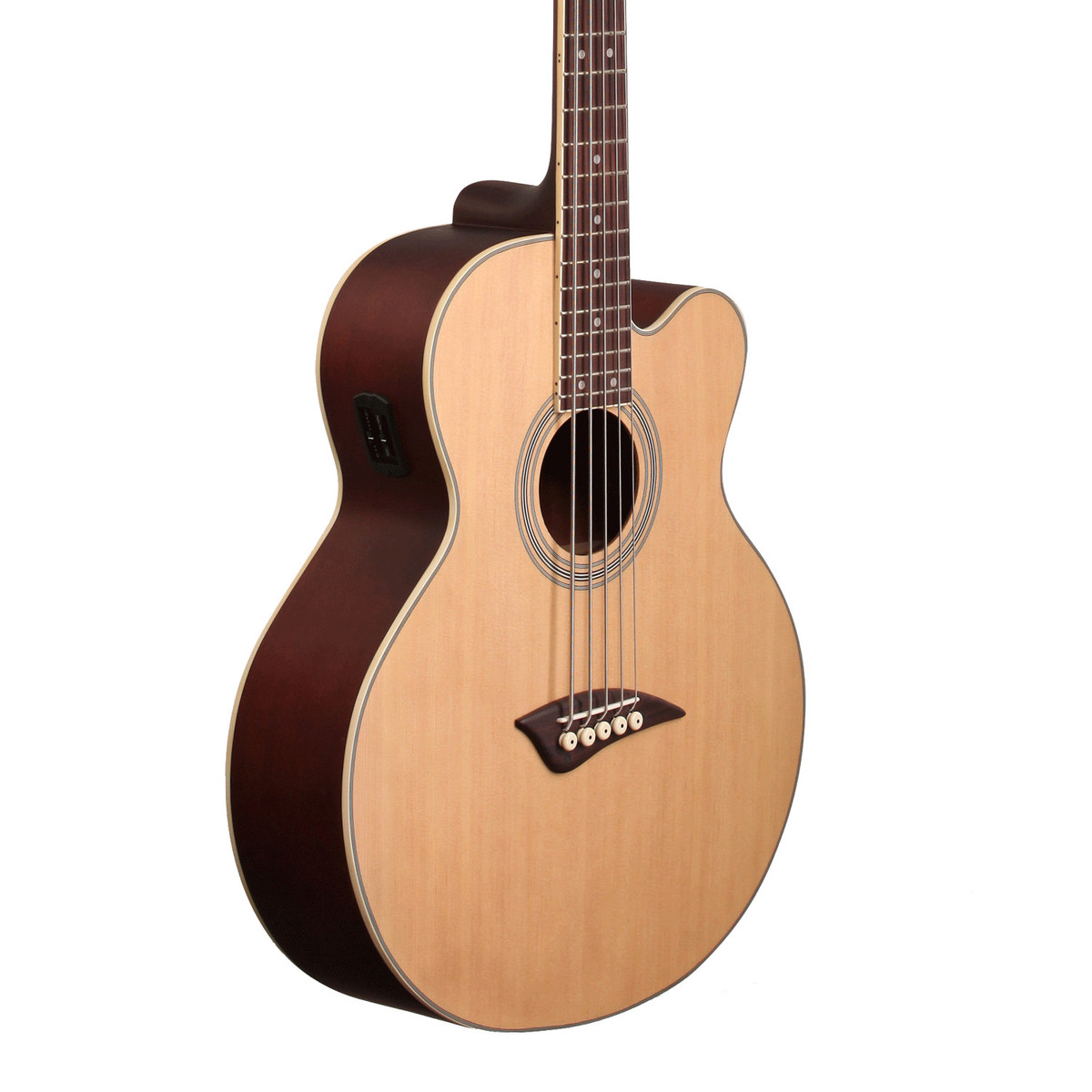dean eabc5 5 string electro acoustic bass guitar satin natural at. Black Bedroom Furniture Sets. Home Design Ideas