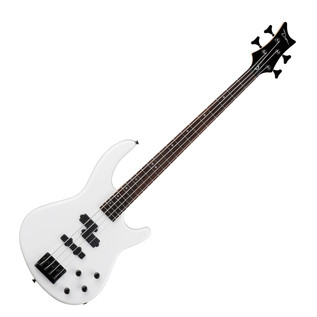Dean Edge 10 PJ Active EQ Bass Guitar, Classic White