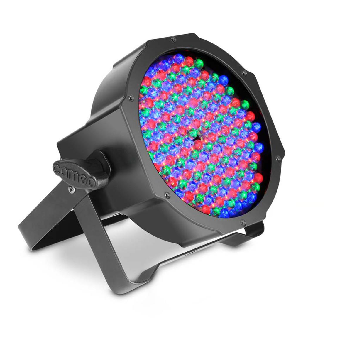 Image of Cameo 144 x 10mm RGB LED Flat Par Can Spotlight Black