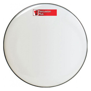 Percussion Plus White Bass Drum Head, 24