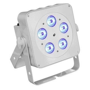 LEDJ Slimline 5Q5 RGBW LED Par Can, White Housing