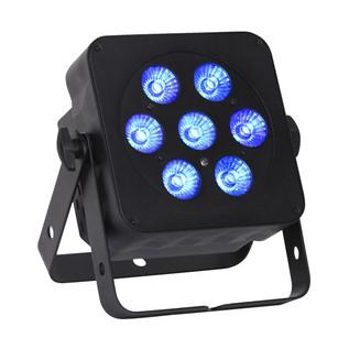 LEDJ Slimline 7Q5 RGBW LED Par Can, Black Housing