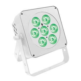 LEDJ Slimline 7Q5 RGBA LED Par Can, White Housing