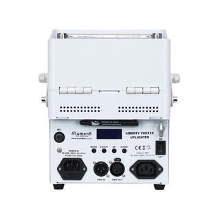 eLumen8 Liberty 7HEX12 RGBWAUV LED Battery Uplighter (White Housing)