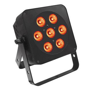 LEDJ Slimline 7HEX6 RGBWAUV LED Par Can, Black Housing
