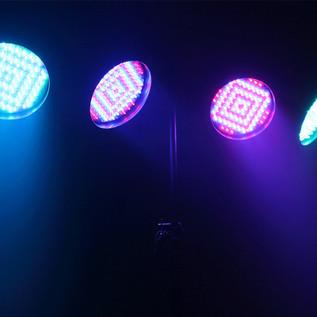 Equinox Party Par Pack LED Par 56 Cans, Polished Housing