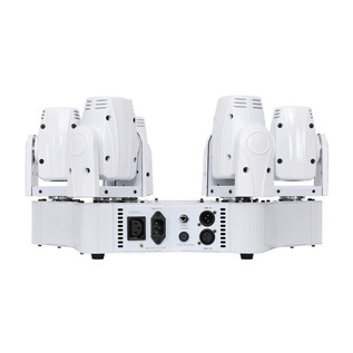 Equinox Slender Beam Centrepiece Moving Head LED Light, White Housing