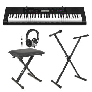 Casio CTK-3400 Portable Keyboard + Bench, Headphones, Stand and PSU