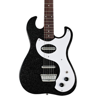 Danelectro 63 Double Cutaway Electric Guitar, Black Sparkle