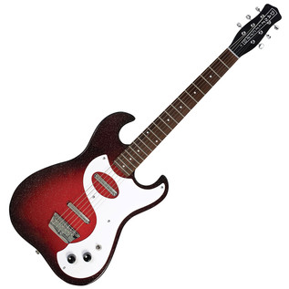 Danelectro 63 Double Cutaway Electric Guitar, Red Sparkle Burst