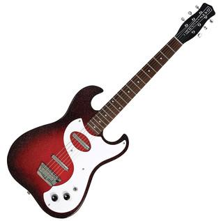 Danelectro 63 Double Cutaway Electric Guitar, Red Sparkle Burst