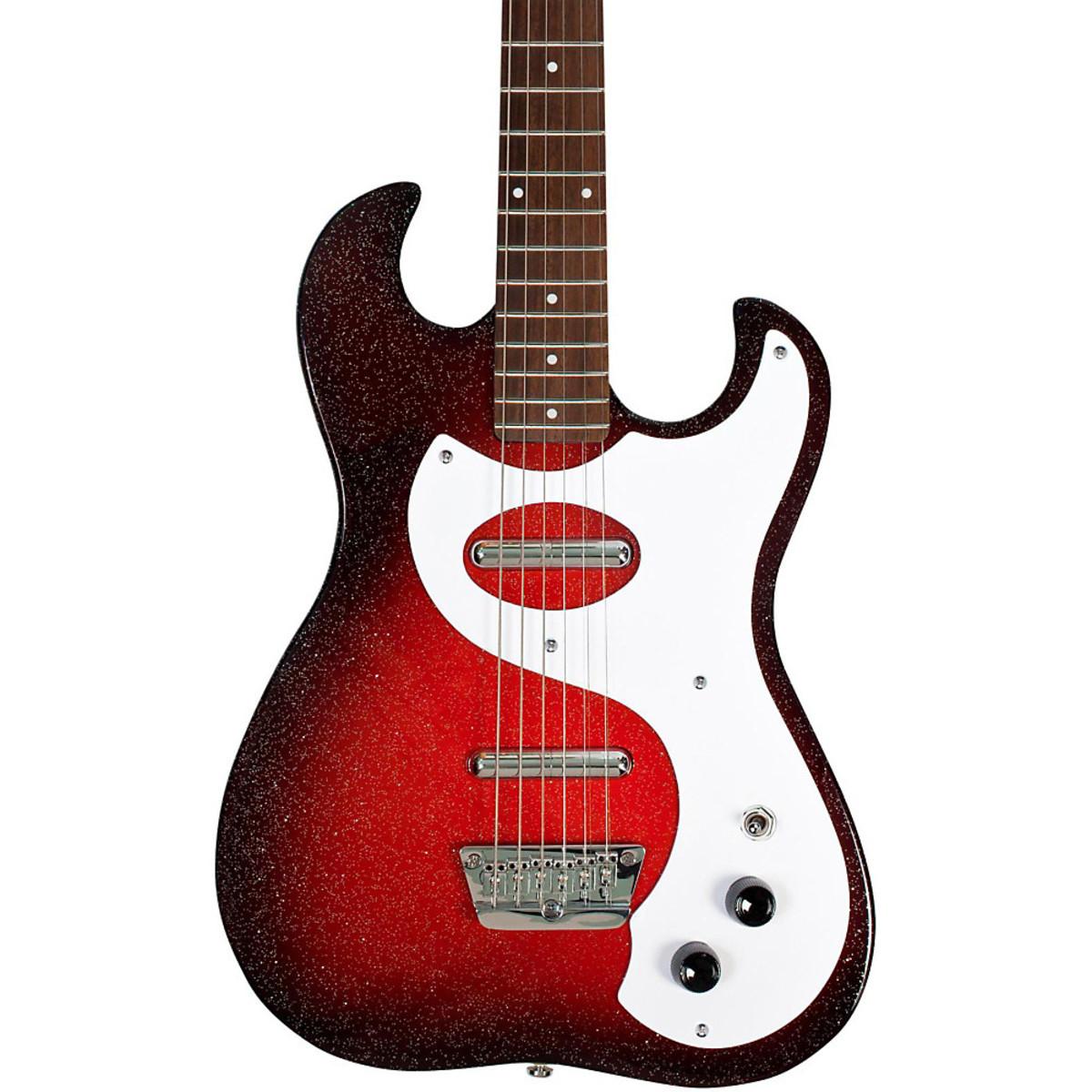 danelectro 63 double cutaway electric guitar red sparkle burst at. Black Bedroom Furniture Sets. Home Design Ideas