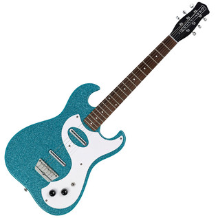 Danelectro 63 Double Cutaway Electric Guitar, Turquoise Metal Flake