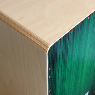 Sela Varios Pre Assembled Cajon with Removable Snare System, Green
