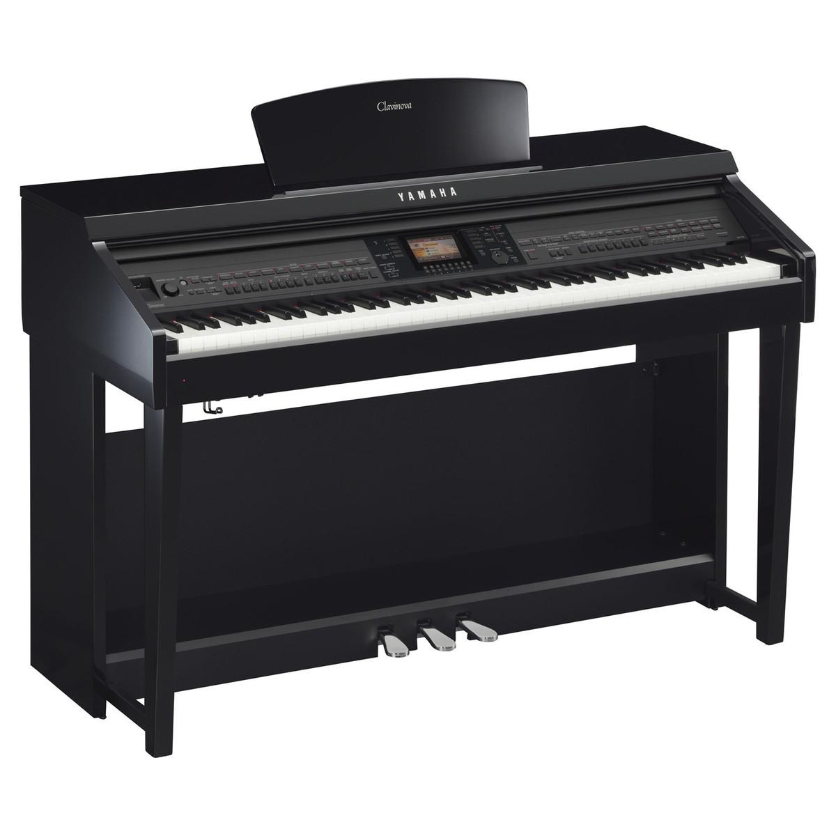 Yamaha cvp701 clavinova digital piano polished ebony at for Yamaha digital piano clavinova