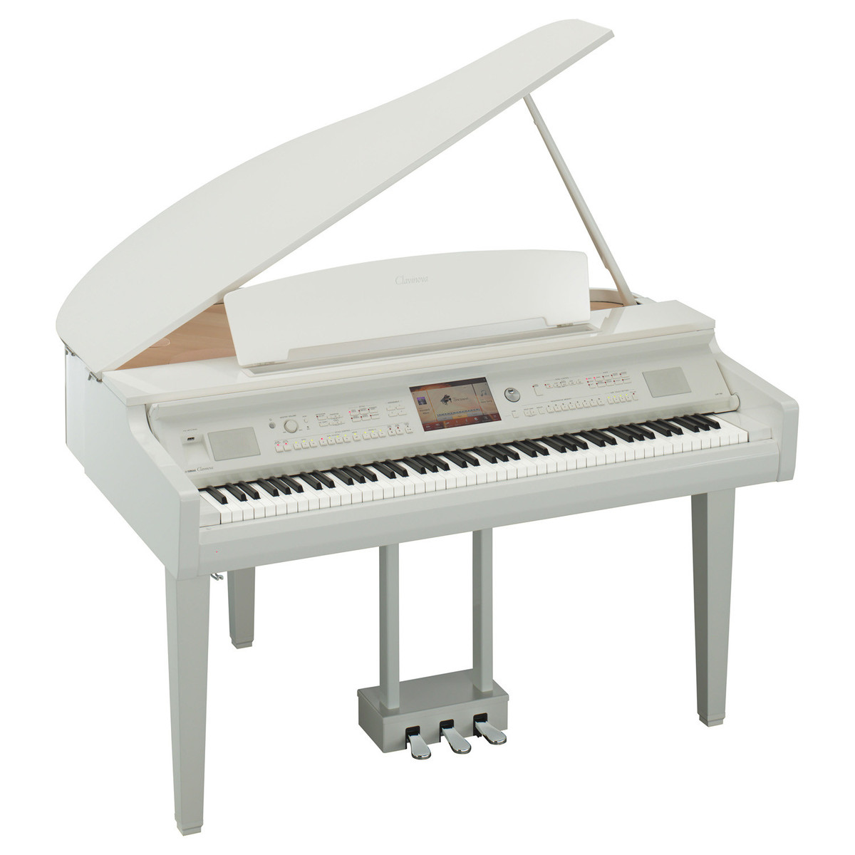 yamaha white grand piano - photo #3