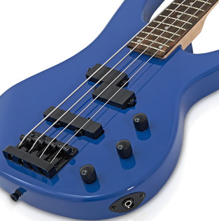 Lexington Bass Guitar by Gear4music, Blue