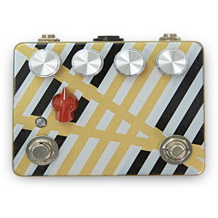Caroline Cannonball Hand Painted Distortion Pedal, Black/Silver