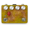 Caroline Cannonball Handmålad Distortion Pedal, Yellow Distressed