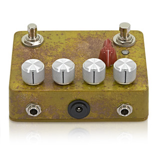 Caroline Cannonball Hand Painted Distortion Pedal, Yellow Distressed