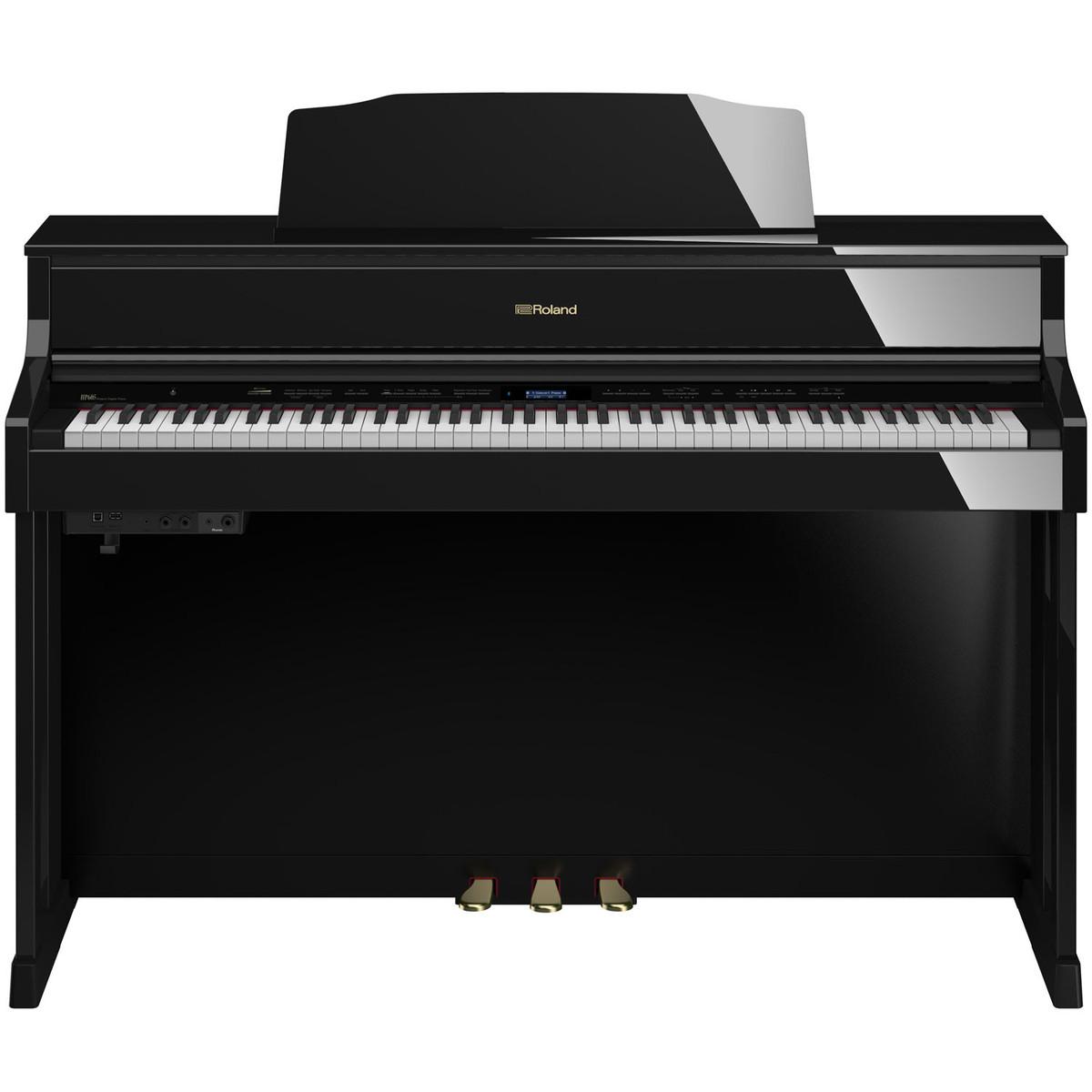 roland hp605 digital piano polished ebony at. Black Bedroom Furniture Sets. Home Design Ideas