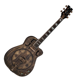 Dean Resonator Thin Body Electric Resonantor Guitar, Brass
