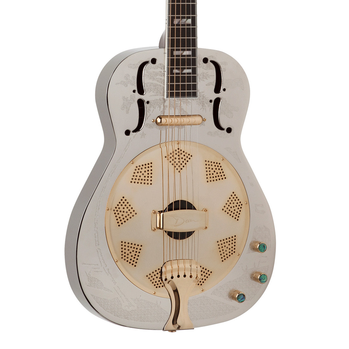dean resonator thin body electric resonator guitar chrome. Black Bedroom Furniture Sets. Home Design Ideas