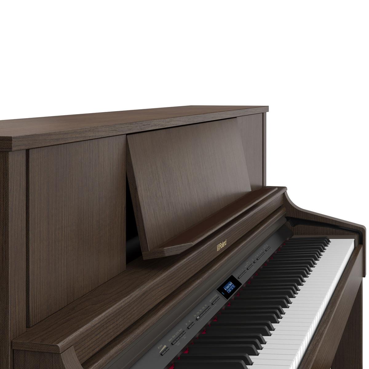 roland lx7 digital piano brown walnut at. Black Bedroom Furniture Sets. Home Design Ideas