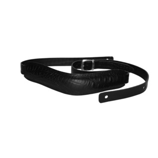 Richter 1020 Slim Deluxe Luxury Guitar Strap, Buffalo Black