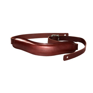 Richter 1022 Slim Deluxe Luxury Guitar Strap, Buffalo Brown