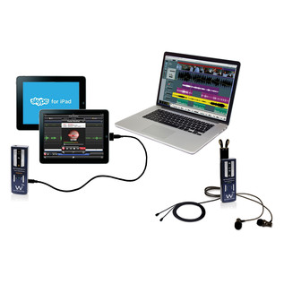 Wi Digital AudioStream Pro SL, Stereo Lavalier with Monitoring (iPads & Laptop Not Included)
