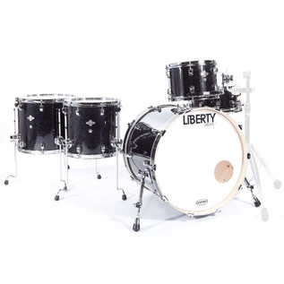 Liberty 5pc Fusion Series Drum Kit, Black Sparkle