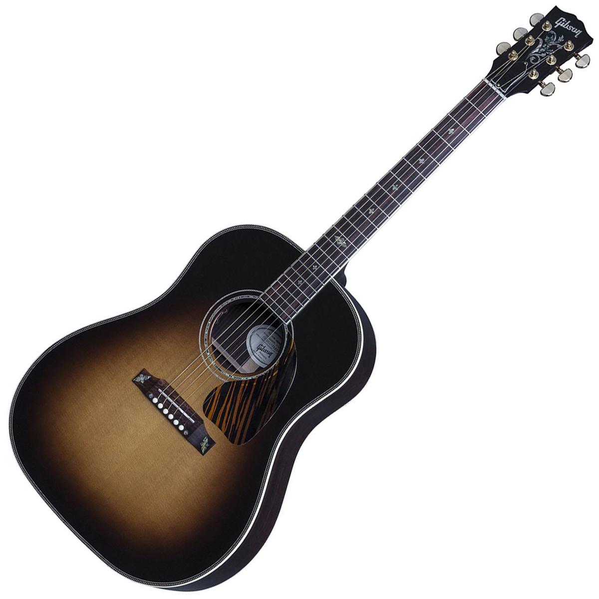 gibson 2016 j 45 custom electro acoustic guitar vintage sunburst at. Black Bedroom Furniture Sets. Home Design Ideas