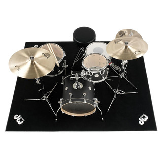 DW 5' x 7' Large DW Drum Rug, (Drum Kit, Hardware & Seat Not Included)