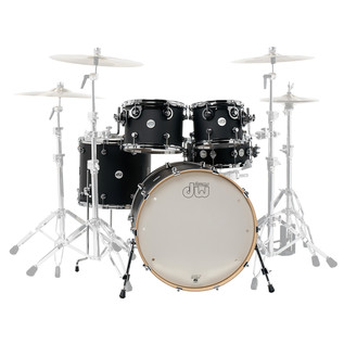 DW Design Series Matt Lacquer 22'' Maple Shell Pack, Satin Black