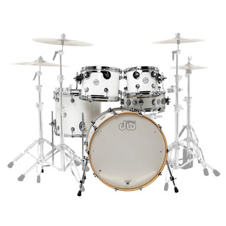 DW Design Series Gloss Lacquer 22'' Maple Shell Pack, White