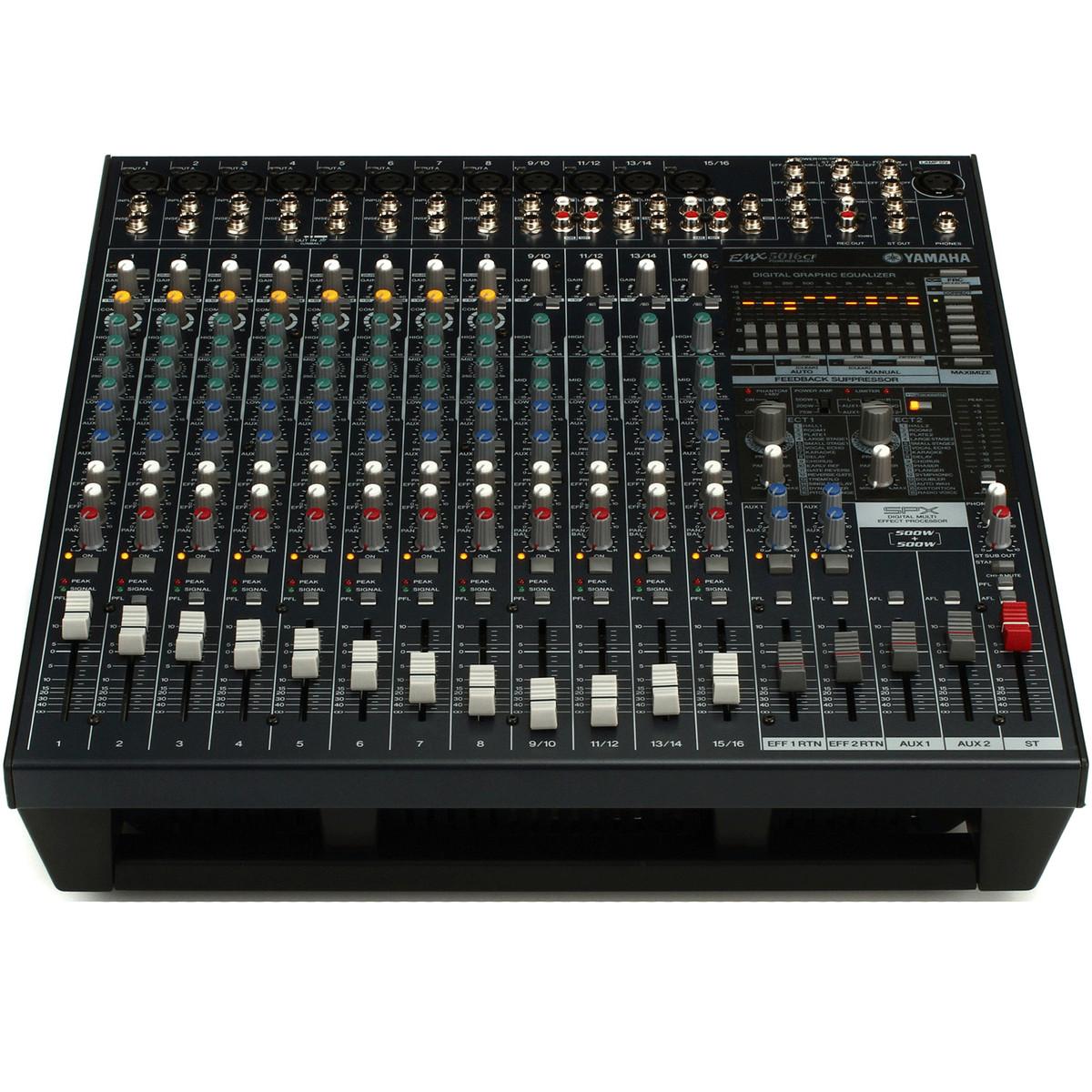 Yamaha emx5016cf 500w 500w stereo powered mixer at for Yamaha powered mixers