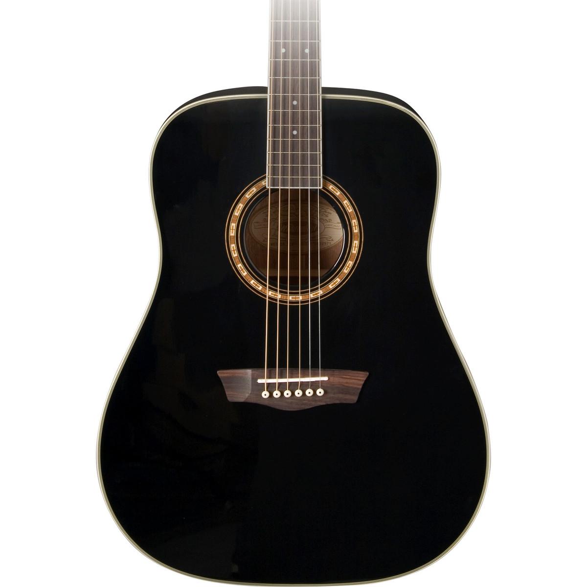 washburn wd10s acoustic guitar black at. Black Bedroom Furniture Sets. Home Design Ideas