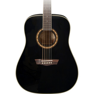 Washburn WD10S Acoustic Guitar, Black