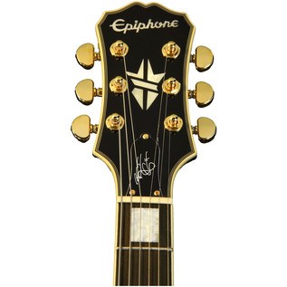 Epiphone Ltd Ed Bjorn Gelotte Les Paul Custom Guitar, Ebony Gloss