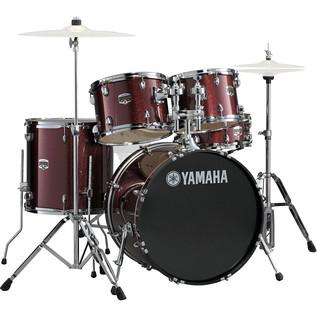 Yamaha Gigmaker 20'' Fusion Drum Kit, Burgundy Glitter