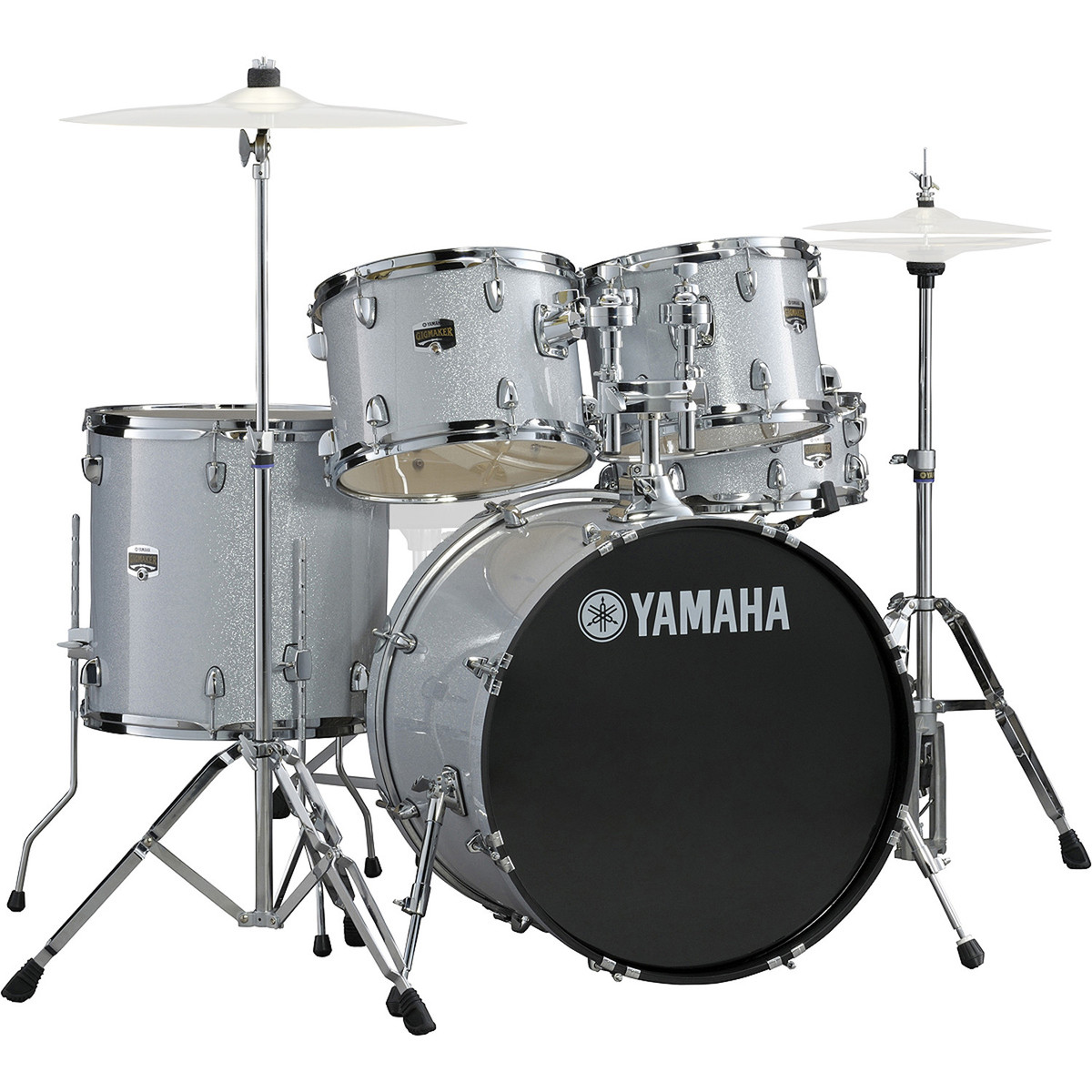 Yamaha Gigmaker 22 Rock Drum Kit Silver Glitter At