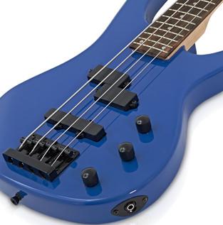 Lexington Bass Guitar by Gear4music + BP80 Pack, Blue