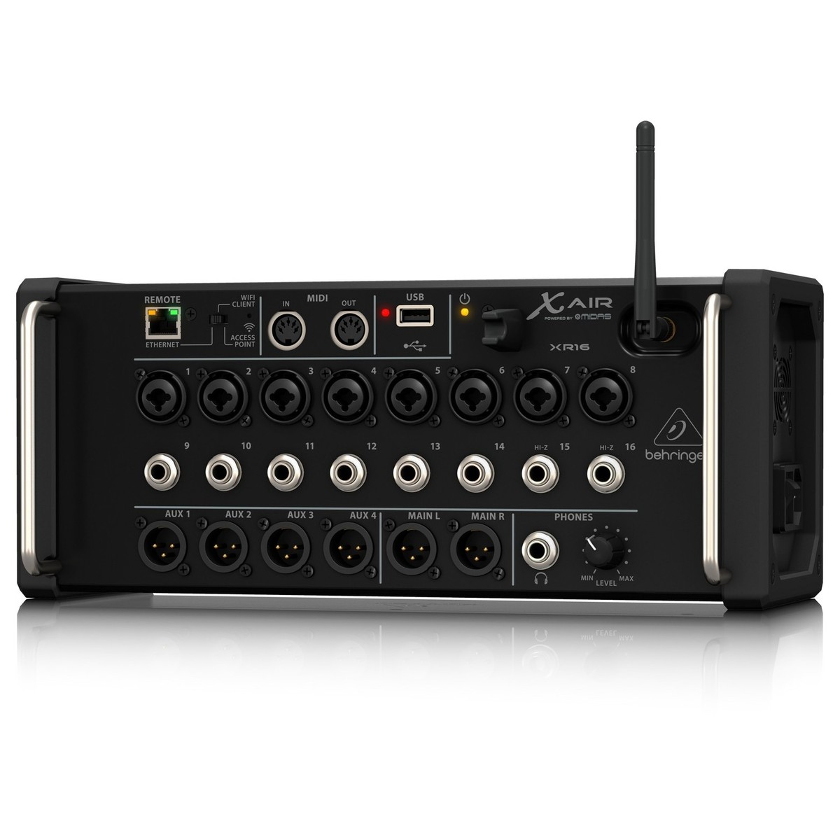 behringer x air xr16 16 channel digital mixer at. Black Bedroom Furniture Sets. Home Design Ideas