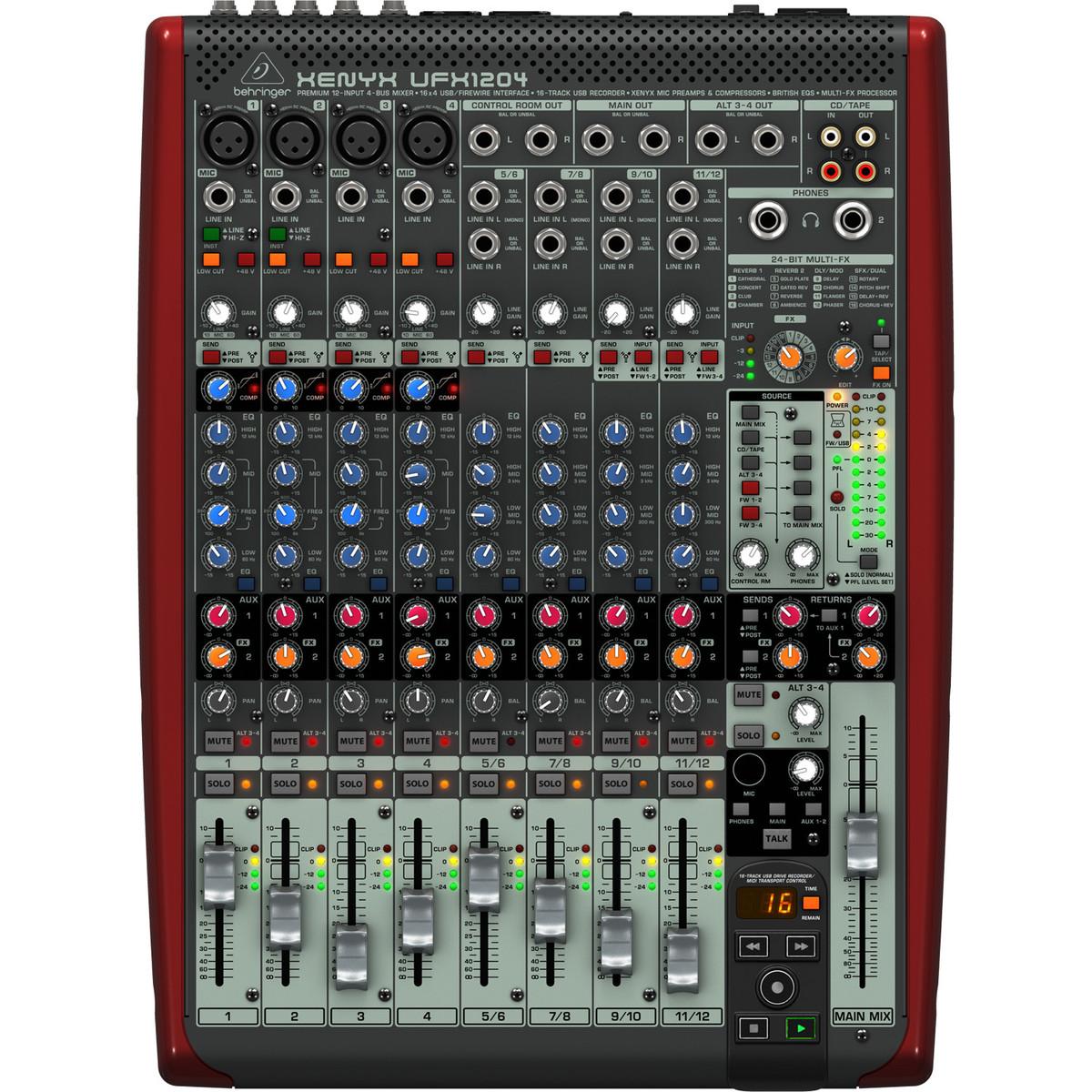 Table de mixage behringer xenyx ufx1204 petit format - Table de mixage virtuel gratuit en francais ...