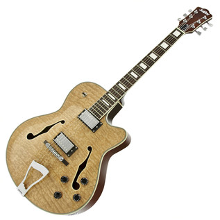 SubZero New Orleans Semi Acoustic Jazz Guitar, Natural