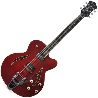 Hofner Verythin Single Cutaway Electric Guitar, Red