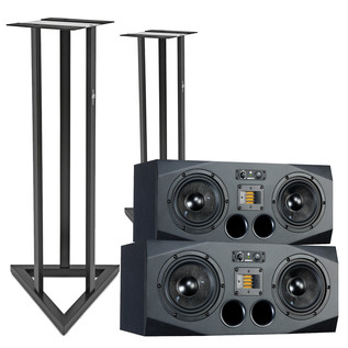 Adam A77X Active Studio Monitors, Pair with Stands