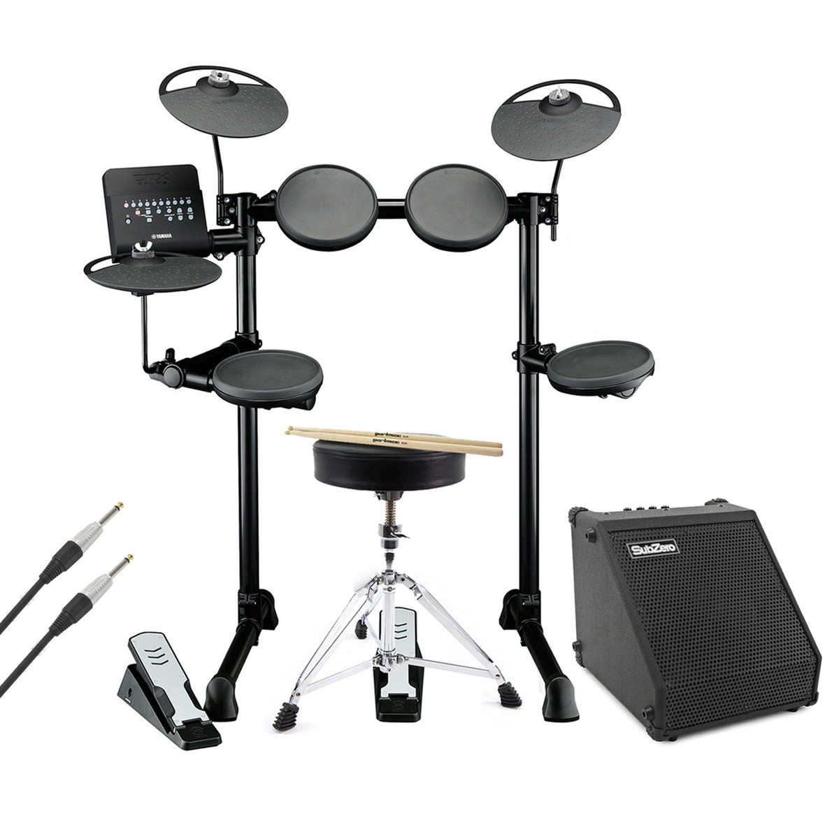 yamaha dtx400k electronic drum with amp cable stool and